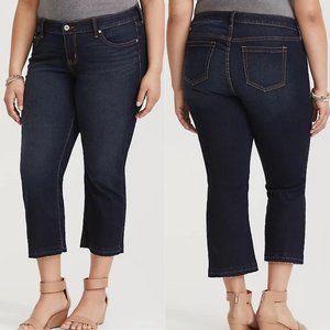 Torrid NWT Crop Flare Vintage Stretch Dark Jeans